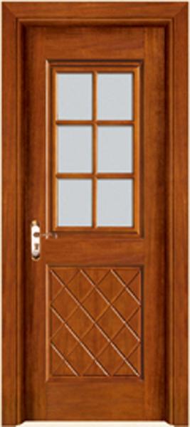 实木玻璃门A-2160