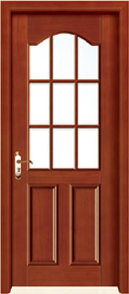 实木玻璃门A-2161