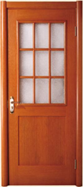 实木玻璃门A-2163