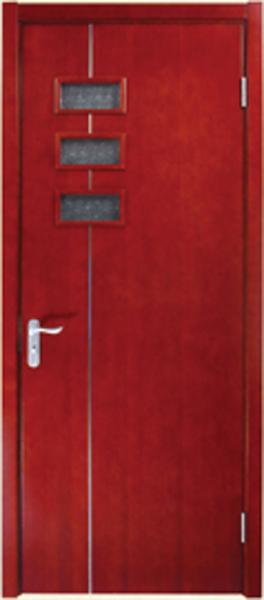 实木玻璃门A-2165